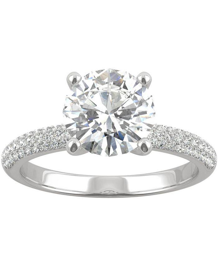 Charles & Colvard - Moissanite Engagement Ring (2-1/4 ct. t.w. DEW) in 14k White Gold