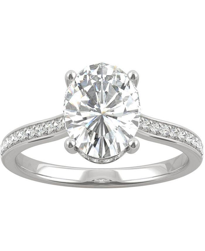 Charles & Colvard - Moissanite Oval Engagement Ring (2-1/3 ct. t.w. DEW) in 14k White Gold