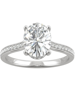 Moissanite Oval Engagement Ring (2-1/3 ct. t.w. Dew) in 14k White Gold