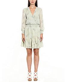 Michael Michael Kors Ruffled Paisley-Print Dress