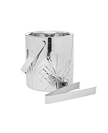 Dublin Metal Ice Bucket with Tongs