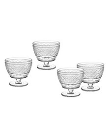 Claro Set of Four Ice Cream Bowls Clear
