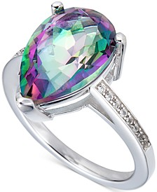 Mystic Topaz & White Topaz Ring in Sterling Silver