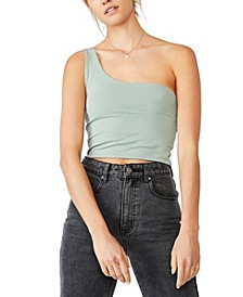 One Shoulder Sleeveless Top