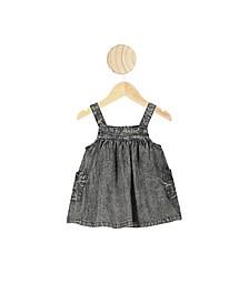 Baby Girls Penny Pinafore  Denim Dress