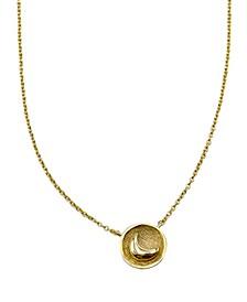 Moon Medallion Pendant Necklace