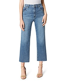 Blake High-Rise Wide-Leg Cut-Hem Jeans