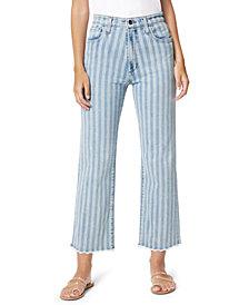 Joe's Jeans Blake Two-Tone High-Rise Wide-Leg Frayed-Hem Jeans