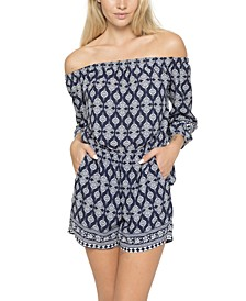 Juniors' Off-The-Shoulder Romper