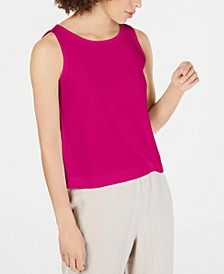 Ballet-Neck Tank Tencel ™ Top, Regular & Petite