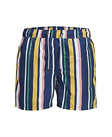 Men's Recycled Striped Swim Shorts