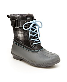 Vancouver Plaid Women's Lace-up Duck Boots