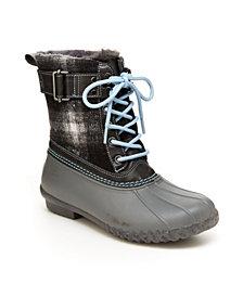 JBU Vancouver Plaid Women's Lace-up Duck Boots