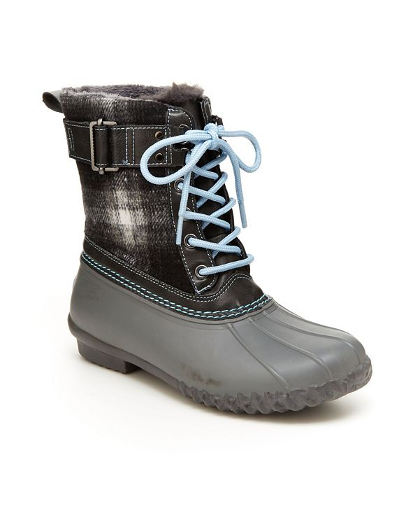 JBU Vancouver Plaid Women's Lace-up Duck Boots