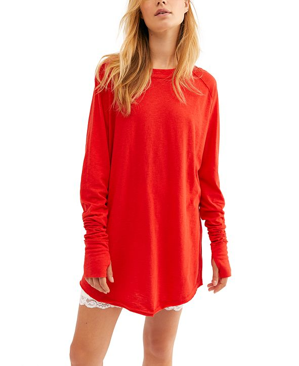 Free People Arden Solid Long-Sleeved T-Shirt