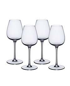 Purismo Red Wine Intricate and Delicate Glass, Set of  4