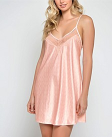 Ultra Soft Lace Trimmed Knit Chemise
