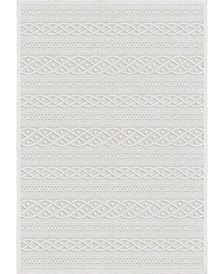 "Bourne Jenna Neutral 6'6"" x 9'6"" Area Rug"