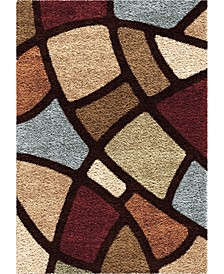 "Reacation Shag Circle Bloom Multi 7'10"" x 10'10"" Area Rug"
