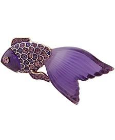 Gold-Tone Pavé Fish Pin