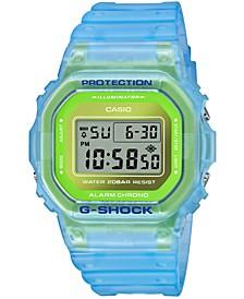 Men's Digital Frosted Blue Resin Strap Watch 42.8mm