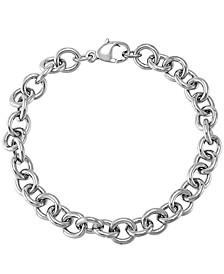 Sterling Silver Bracelet, Link Charm