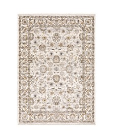 "Kumar Kum03 Ivory and Gray 6'7"" x 9'6"" Area Rug"