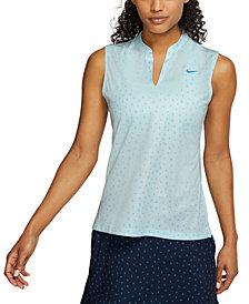 Nike Women's Victory Dri-FIT Printed Sleeveless Golf Polo
