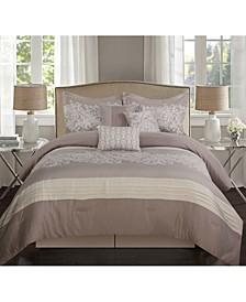 Milan 7 Piece Comforter Set, Queen
