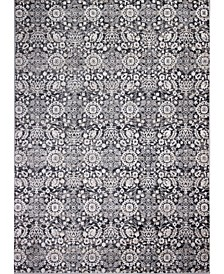 "Plymouth Ply-03 Charcoal 8'6"" x 11'6"" Area Rug"