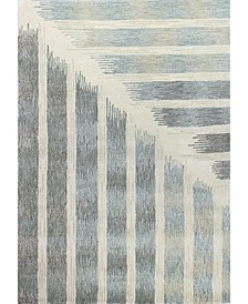 "Downtown Tud-01 Ivory 7'9"" x 9'9"" Area Rug"