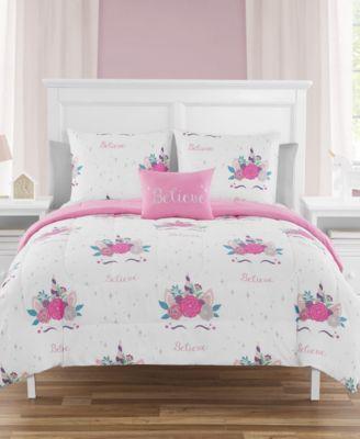 Unicorn Party Twin 5 Piece Comforter Set