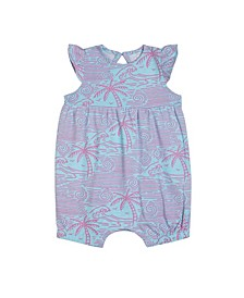Earth by Baby Girls Mae Palms Printed Cotton Bubble