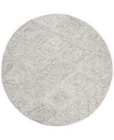 Abstract 767 Silver 6' x 6' Round Area Rug
