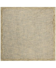 Abstract 220 Gold and Gray 6' x 6' Square Area Rug
