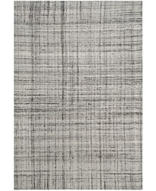 Abstract 141 Gray and Black 6' x 9' Area Rug