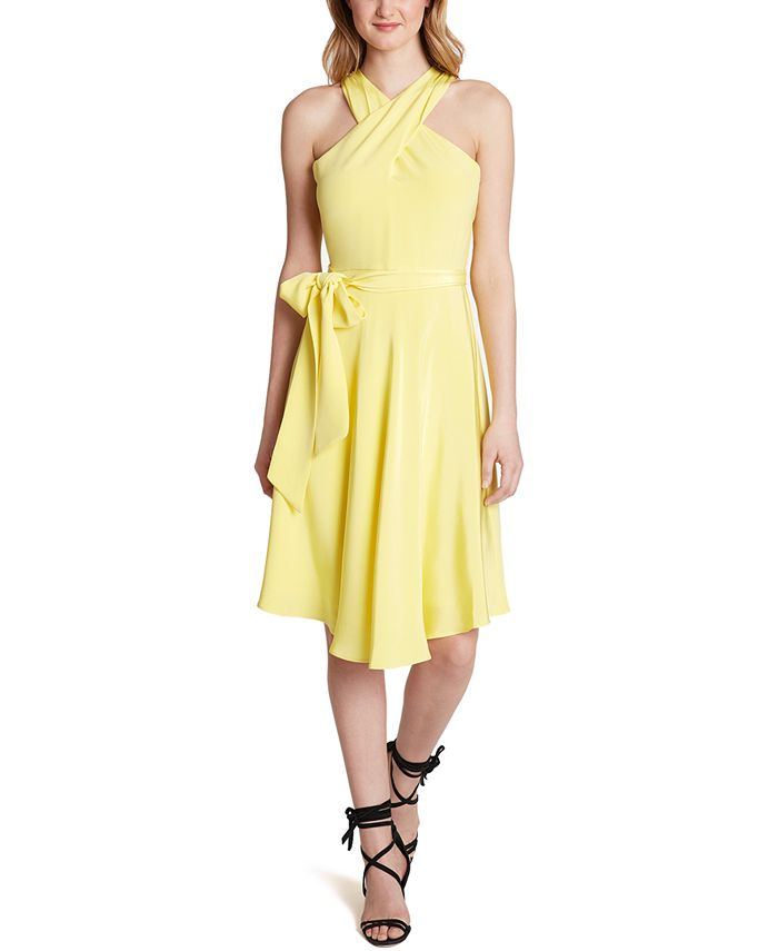 Tahari ASL - Crisscross Halter Dress