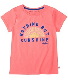 Big Girls Sunshine Flippable Sequin Tee