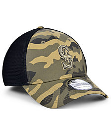 New Era Seattle Mariners Camo Neo 39THIRTY Cap