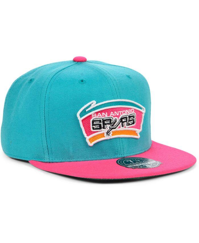 Mitchell & Ness San Antonio Spurs Wool 2 Tone Fitted Cap & Reviews - Sports Fan Shop By Lids - Men - Macy's