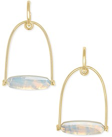 14k Gold-Plated Stone Statement Earrings