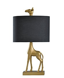 Gold-Tone Giraffe Table Lamp