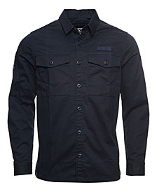 Men's Core Military-Inspired Patched Long Sleeved Shirt