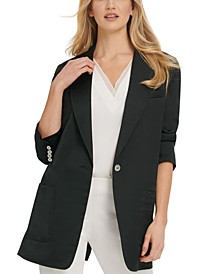 Satin Relaxed Blazer