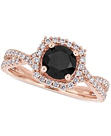 Diamond Halo Engagement Ring (1-1/2 ct. t.w.) in 14K Yellow, White or Rose Gold