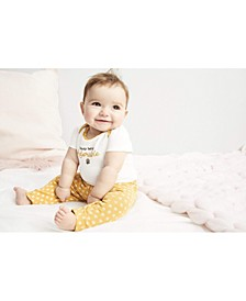 Baby Girls 3-Pc. Elephants Cotton Bodysuits & Pants Set