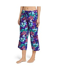Cotton Capri Pajama Pants
