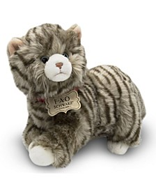 Toy Plush Realistic Tabby Cat