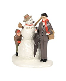 "Nr'S ""Grandfather And Snowman"" Figurines"