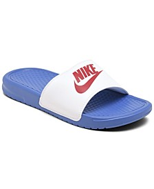 Women's Benassi JDI Swoosh Slide Sandals from Finish Line